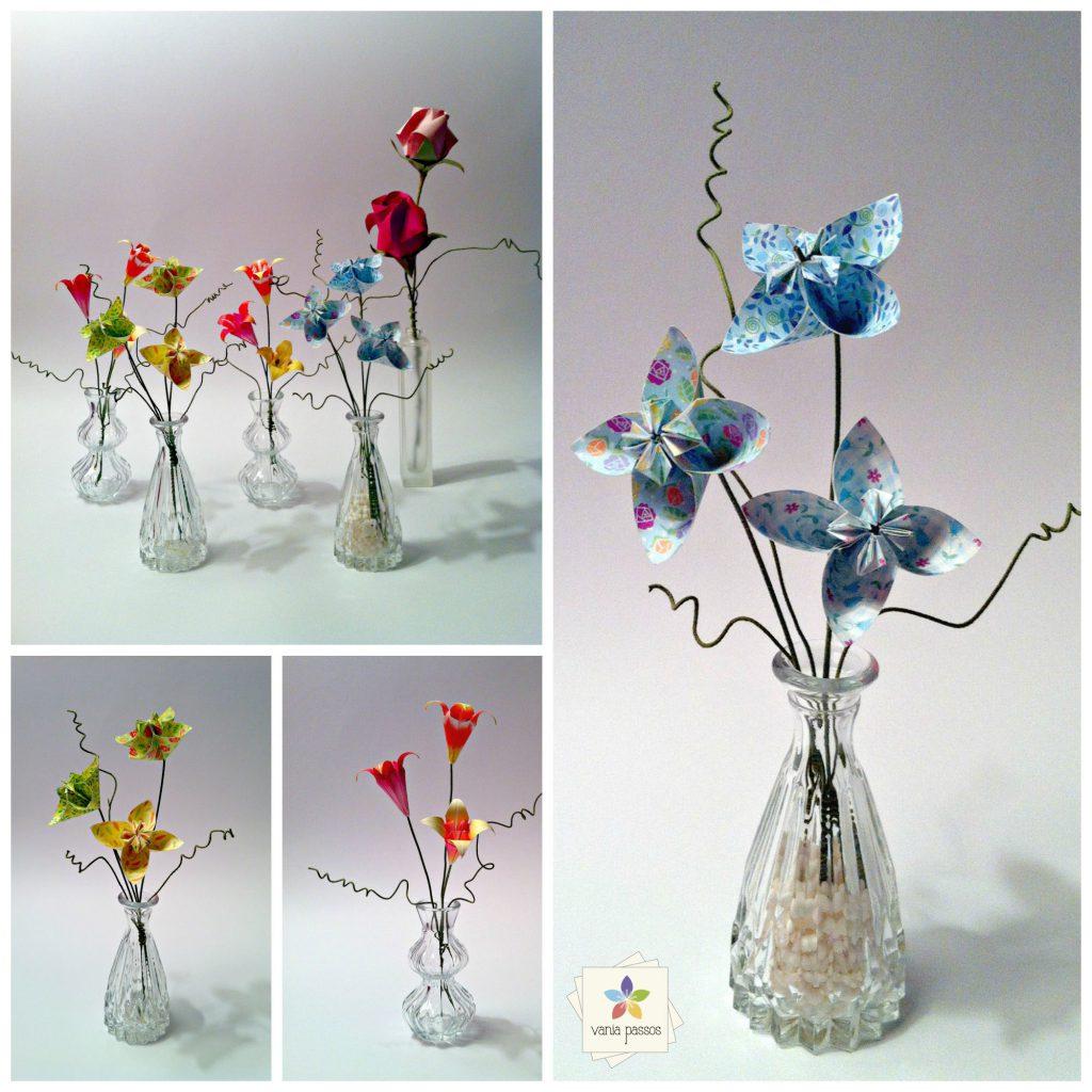 mini-vasos colagem com marca